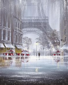 Raining in Paris  *I would love to be right there in this picture for real...
