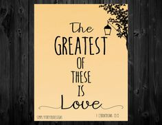 The Greatest of these is Love Canvas    1 Corinthians 13:13    Christian Canvas    Bible Verse Canvas    Custom Canvas    Scripture Canvas