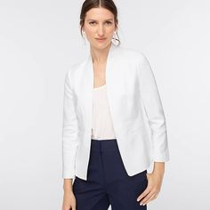 Shop J.Crew for the Tall going-out blazer in stretch linen for Women. Find the best selection of Women Clothing available in-stores and online. J Crew Outfits, Crew Clothing, Cashmere Sweaters, Going Out, Blazer, Clothes For Women, Coat, Casual, Fashion Tips