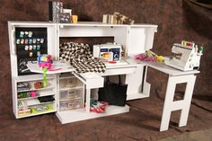 The Original ScrapBox™ Open White SewingBox (Assembled)! Store Your Stuff in Style™