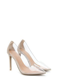 6ad67e6c4fc Such A Princess Clear Pointy Pumps NUDE