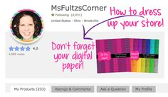 Blogger Tutorial: How To Dress Up Your TeachersPayTeachers Store  Follow these easy steps to make your own quote banner for your store!