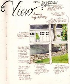 Keep a watercolor journal