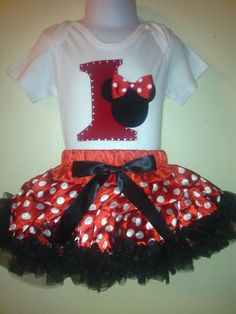 Minnie Mouse baby Dress birthday number Red  2 pc tutu set ,1T,2T,3T,4T,5T,6,7,8 #MinnieMouseTheme