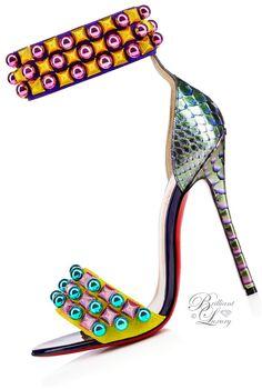 Brilliant Luxury by Emmy DE ♦Christian Louboutin Tudor Bal Veau Velours Python FW 2016