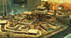 Increible diorama de la guerra de Vietnam.