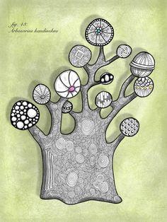 Squid and Gin • Zen Kandinsky tree