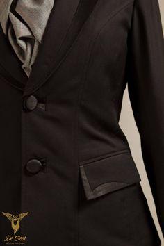 Tuxedo for ladies with princess seam.