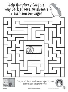 It's everyone's favorite classroom pet! Help Humphrey the Hamster find his way back to his cage.