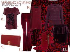 Tendência: do Vermelho ao Vinho no Inverno 2013, uma seleção de peças para atualizar o guarda-roupa de inverno.