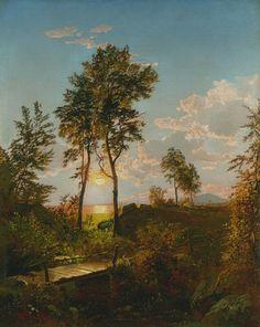 Wooden Bridge at Sunset, 1862, William Trost Richards
