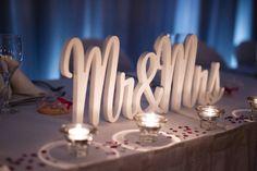 Bridal table centerpiece - very cute!