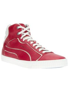 ALEXANDER MCQUEEN PUMA Bi-Colour Hi-Top Trainer
