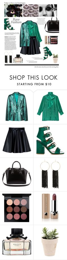 """Extravagant."" by zeljkaa ❤ liked on Polyvore featuring Meadham Kirchhoff, Gucci, MSGM, Laurence Dacade, Givenchy, Bebe, MAC Cosmetics, Marc Jacobs, Akira Black Label and Vans"