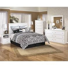 """Rent to Own Bedroom Furniture - Premier Rental-Purchase located in Dayton, OH. Signature Furniture by Ashley """"Bostwick Shoals"""" Bedroom Group. (937) 278-2000 - Get 50% Off Your First Payment!"""