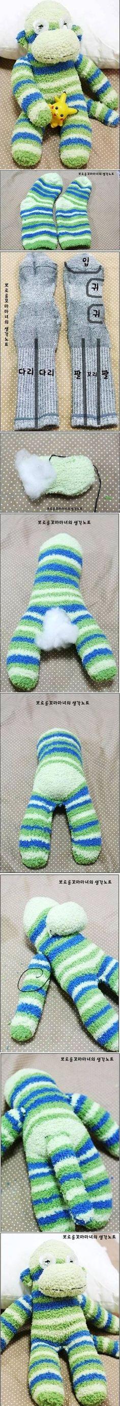 DIY Sock Monkey Terry DIY Projects / UsefulDIY.com
