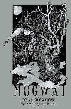 Mogwai and Dead Meadow Concert Poster by David D'Andrea