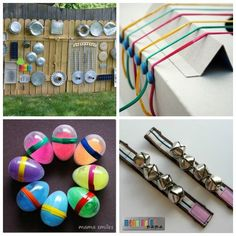 Homemade-Musical-Instruments-Fun-Activities-for-Kids. Preschool Music, Music Activities, Fun Activities For Kids, Music For Kids, Diy For Kids, Crafts For Kids, Music Crafts, Vbs Crafts, Instrument Craft