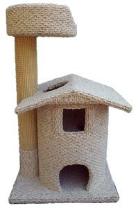 "cat trees from Wade's Cat Trees....Read these are quality trees, some really great designs! Model- Mini Wishing Well; Height- 41"" Base- 20"" X 24"""