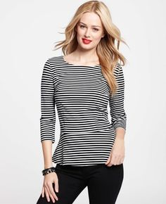 Really into the peplum and the stripe trend. Therefore, I love this top. Ann Taylor.