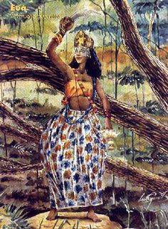 7 posts published by lilamenez during September 2012 Black Women Art, Black Art, Arte Fashion, Camping With Kids, Kids Camp, Orisha, Gods And Goddesses, Deities, Female Art