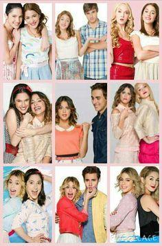 Francesca y Violetta. Leon y Violetta. Ludmilla y Violetta. Season 1,2, and 3