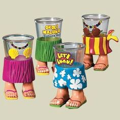 Luau Character Shot Glass