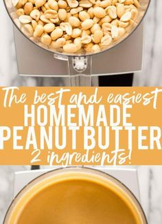 THE BEST AND EASIEST HOMEMADE PEANUT BUTTER INGREDIENTS 16 ounces roasted, unsalted peanuts (not dry roasted) 1/4-1/2 teaspoon salt (or to taste) INSTRUCTIONS Preheat the oven to 250 degrees.  Spread the peanuts on a baking sheet.  Roast for about 20 minutes, or until slightly darker and fragrant. Add peanuts to a food processor.  Process for 3-5 minutes, until nuts have reached a creamy stage.  Add the salt, starting with less and adding more until you achieve the desired taste.  Process…