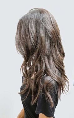 Light Ash Brown Hair with Long Waves and Layers