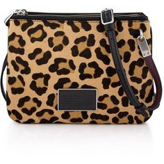 Marc By Marc Jacobs Ligero Leopard Double Percy (1 645 PLN) ❤ liked on Polyvore featuring bags, handbags, shoulder bags, black multi, leather cross body purse, leopard crossbody, shoulder strap bag, marc by marc jacobs crossbody and leather crossbody purse
