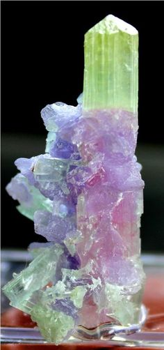 45.50 cts Top Quaility Natural Paprok TOURMALINE Crystal with Lapidolite Mica