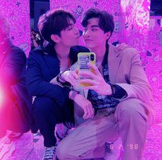 TharnType the series 👬❤ Mew Suppasit & Gulf Kanawut Winchester, Im Siwan, Okay Bye, Gay Aesthetic, Yoo Ah In, Cute Gay Couples, Thai Drama, Happy Together, Cute Anime Boy