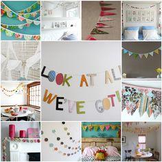 many garland ideas!