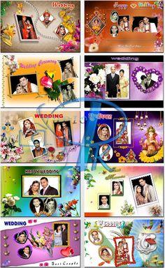 Wedding Background For Photo Editing Wedding Banner Design, Flex Banner Design, Indian Wedding Album Design, Wedding Album Cover, Wedding Album Layout, Wedding Photo Albums, Digital Photo Album, Indian Wedding Invitations, Graphic Wallpaper