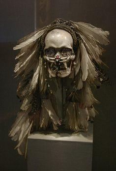 de Young Museum: Ancestor skull, Ndambirkus, Asmat people by jenfoolery, via Flickr