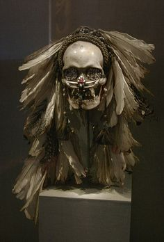 de Young Museum: Ancestor skull, Ndambirkus, Asmat people by jenfoolery, via Flickr