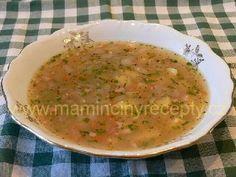 Cibulovo-bramborová Czech Recipes, Ethnic Recipes, Snack Recipes, Snacks, Cantaloupe, Soup, Fruit, Czech Food, Snack Mix Recipes