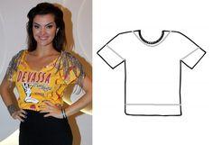 Diy Clothes Design, Diy Fashion, Fashion Tips, T Shirt Diy, Diy Clothing, Refashion, Sewing Hacks, T Shirts For Women, Crop Tops