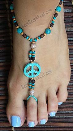 Hippie Chic ~ BecsBeachFeet.com ~ Handmade Foot Jewelry For Anytime AnyWEAR!™