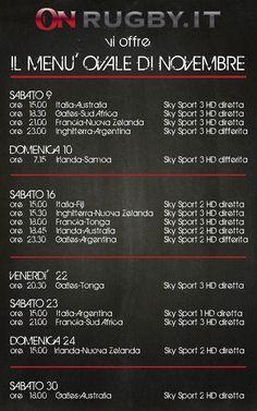 Test-match 2013: la programmazione definitiva di Sky. Con l'Italia - On Rugby il menù ovale