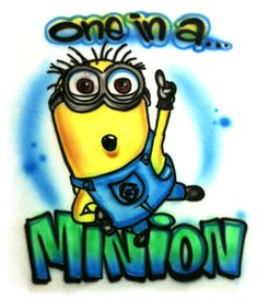Dispicable Me inspired Minion  one in a minion by http://www.1stopairbrush.com/, $14.00