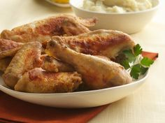 Oven-Fried Chicken - This recipe is the best evah!  The two things I do different is I first use legs and thigh meat and then marinate or soak the chicken pieces in milk overnight or at least for an hour.  Thank you Betty Crocker it is yummy for your tummy!