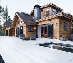 Ideas for house modern exterior architecture arquitetura Modern Lodge, Modern Mountain Home, Mountain Homes, Dream Home Design, Modern House Design, Stommel Haus, Casas Country, Modern Farmhouse Exterior, Farmhouse Design