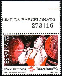 Stamp from Spain Summer Dream, Vintage Stamps, Writing Paper, Stamp Collecting, Olympic Games, Olympics, Barcelona, Poster, Gold