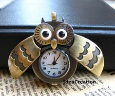 time <3 in perspective ~ night owl pinners ~ Owl clock