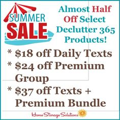 Get your home clutter free in the second half of 2021 with almost half off select Declutter 365 products! {on Home Storage Solutions 101} #Declutter365 Organizing Tips, Organizing Your Home, Organization Hacks, Household Products, Household Tips, Clutter Control, Home Storage Solutions, Clutter Free Home, Home Management