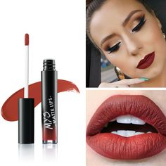 MYS Beauty Waterproof Batom Matte tint Liquid Lipstick Smooth Lip Stick Long Lasting Lip Gloss Cosmetic Makeup Kit Maquiagem #Affiliate