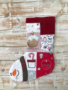 Keepsake Christmas Stocking First Christmas, Christmas Themes, Christmas Decorations, Holiday Decor, Keepsake Quilting, Patchwork Designs, Organic Baby, Little Ones, Christmas Stockings