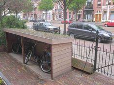 Diy bike shed plans #sheddesigns #buildashed Bicycle Storage Shed, Outdoor Bike Storage, Diy Bike Rack, Bike Shed, Bicycle Rack, Diy Shed Plans, Storage Shed Plans, Diy Storage, Storage Ideas