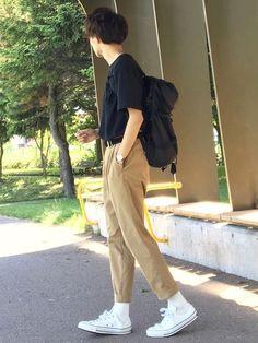 【instgram→@reposuke】 【Twitter→@reposuke_wear】 れぽすけ Fashion Wear, Mens Fashion, Fashion Outfits, Dickies Pants, Korean Fashion Men, Hot Boys, Style Guides, Street Wear, Normcore